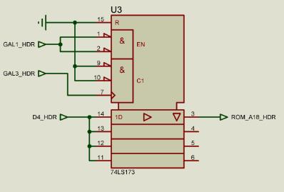 Register schematic 1bit