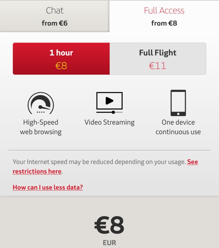 WiFi plan prices